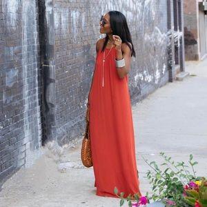 Dresses & Skirts - Rust/burnt orange Maxi dress/top